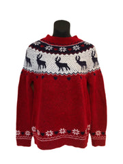Size 8-10  Soft Stag Scene  Ladies Christmas Jumper