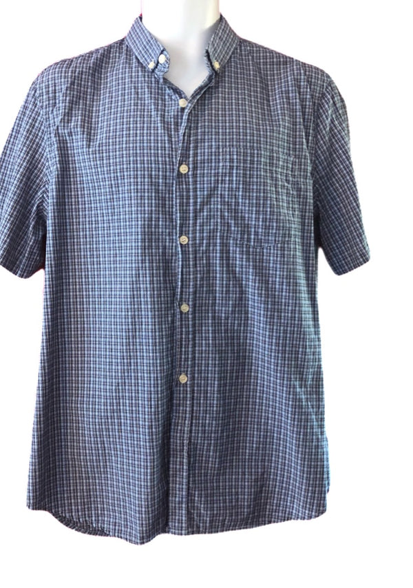 Large French Connection mens short sleeved checked shirt