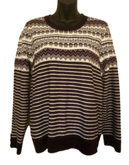 Size 14-16 Per Una Purple & Cream  PatternJumper