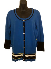Size 14-16 Star By Julian Macdonald Royal Blue Fine Knit Cardigan