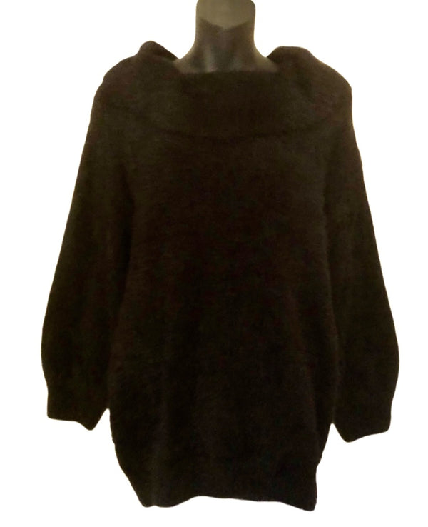 Size 14 Black Fluffy F&F Jumper New & Tagged