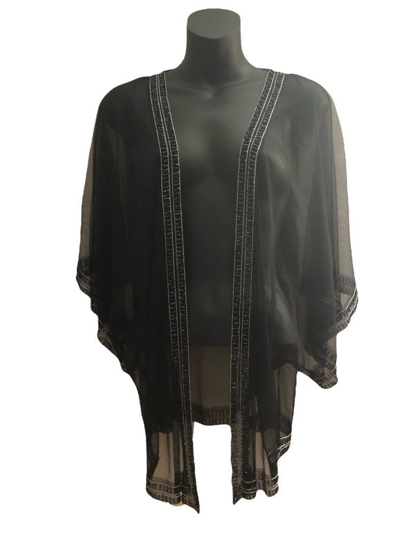 Size 14 Top Shop Sheer Embelished Evening Jacket