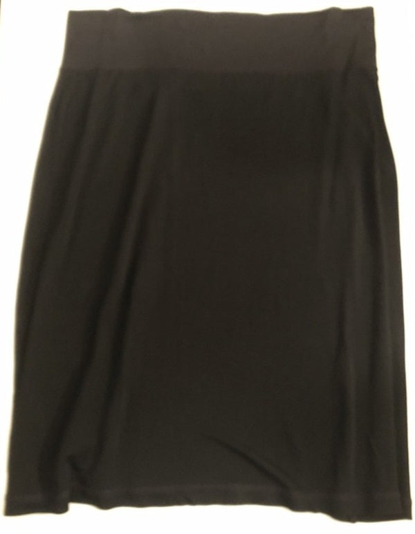 Maternity Size 14 Black Silky Knee Length  Skirt Rrp £79 New