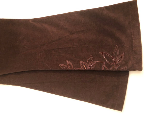 Maternity Size 12 Mothercare brown Velour Bootcut Trousers New & Tagged