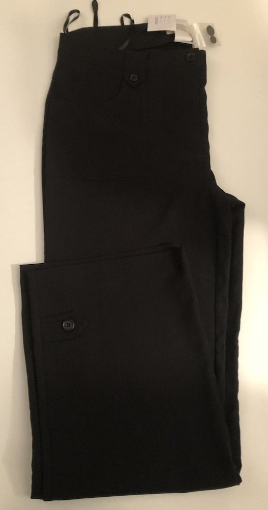 Size 16-18 Alessa W Collection Black Smart Trousers