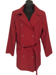 Size 16 Dash Red Jacket Mac with Belt