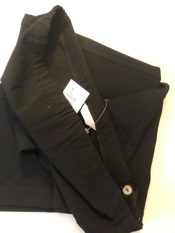 Maternity 10  Mothercare Boot Cut Black Trousers  with side zip Rrp £28 New without Tags