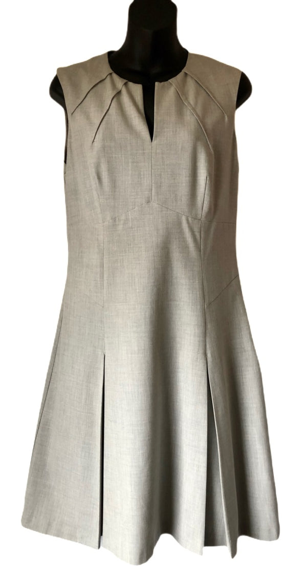 Size 12 Warehouse Grey Smart Dress
