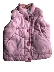 Age 3-4 Joules Pink Body warmer Padded Gilet