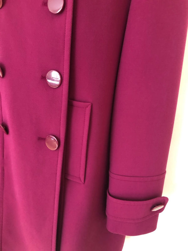 Size 16-18 Magenta Pink  Longer Length Jacket By M&S