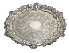 "Vintage 13"" Silver Plated Drinks Tray - Silvercraft - Sheffield - England"