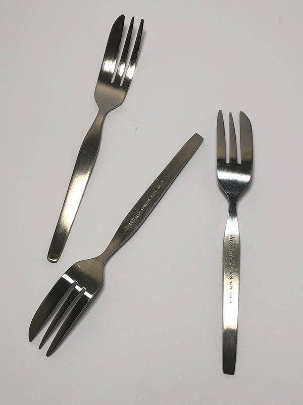 Vintage Viners Profile Stainless Steel Cutlery Six Pastry Cake Forks