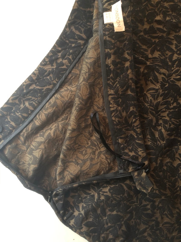 Size 16 Monsoon Ophelia Gold and Black Jacquard Trousers New & Tagged