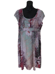 Size 14 White Stuff Multi coloured Patterned Summer Linen Mix Dress