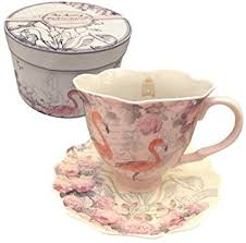 The Aviary Flamingo Cup & Saucer In Presentation Box  New