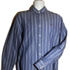 Large Mens Crew clothing Blue Line Stripe Casual fit Shirt