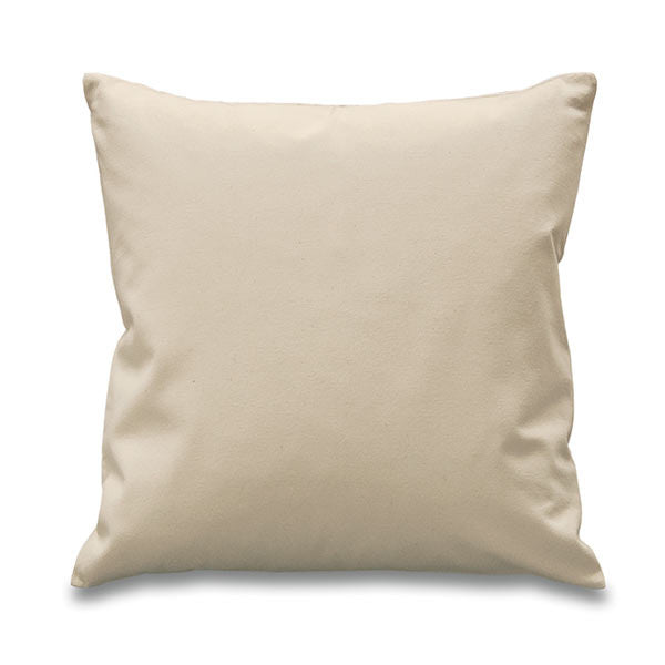 Natural 100% Cotton canvas cushion cover. size 45x45cm (18 inches square)