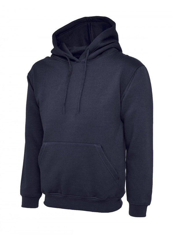 Large Mens Navy Club  Hooded Sweatshirt New