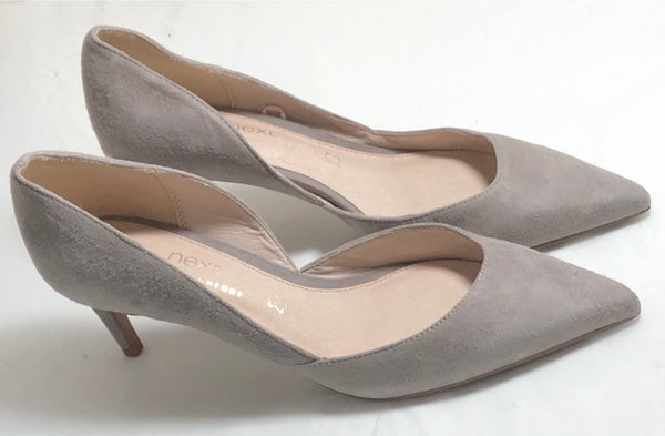 Size uk 6 Next Forever Comfort Suede Mink Shoes New Rrp £38
