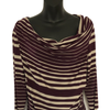 Size 16  Phase Eight Plum Stripe Jersey Top