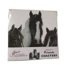 Equestrian Cob Coaster Set 'Friends' By Grays of Shenstone New