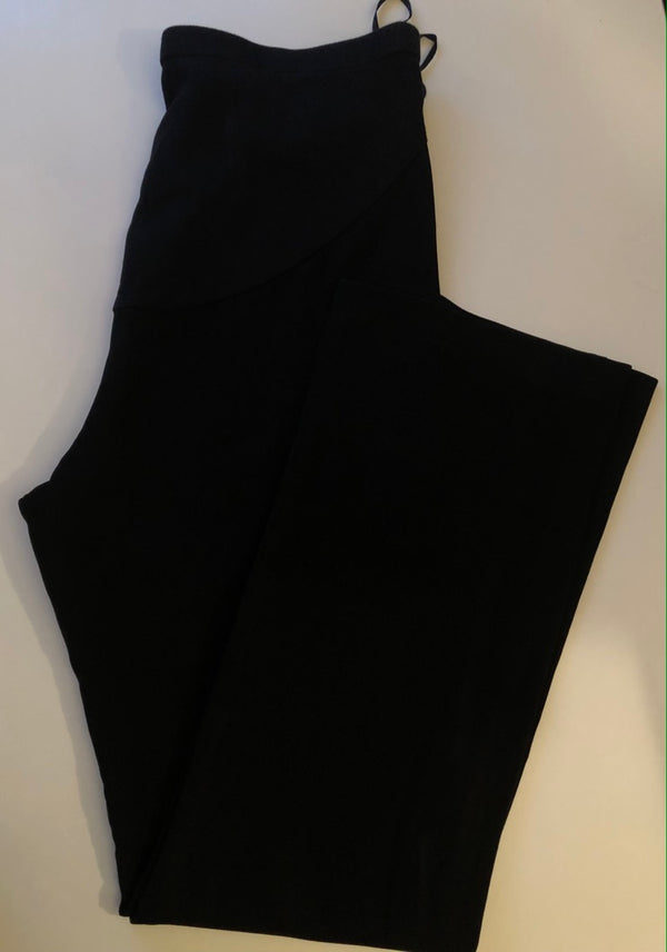 Maternity 12 Mothercare Boot Cut Black Trousers  with Jersey Panel Rrp £27 New without Tags