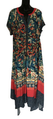 Size 18 Monsoon Flower Button Front Soft & Silk Maxi Dress