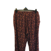 Size 18 Long Next  Burgundy Ethnic Print Trousers New & Tagged