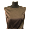 Maternity Size 12  Fragile Brown Satin Top Rrp £50 New