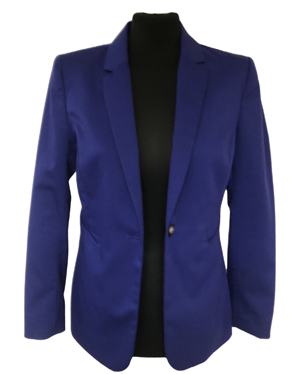 Size 10 H&M  Royal Blue Fitted Jacket