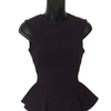 Size 10 The  Pretty Dress Company Purple Slinky Peplum dress