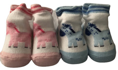 Pony Baby Socks Blue or Pink  Equestrian New