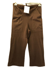 Maternity Size 10 Designer Camel Brown Jersey 3/4 Trousers New