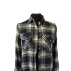 Size 8 Navy/cream Ladies checked shirt New with tags