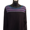 Size 16 Per Una Purple Pattern Fine Knit Jumper