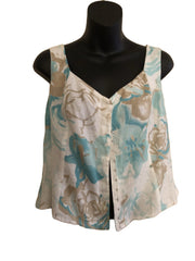 Size 16 Minuet 100% Linen Basque Top