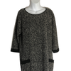 Size 16  M&S Black Pattern Knitted Smart Tunic Dress