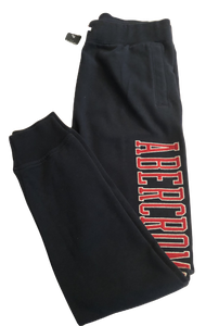 Age 13-14  Abercrombie & Fitch Navy Red Logo Skinny Joggers NEW Tagged