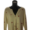Size 16+18 Principles Cream Embroidered flowers Knit Cardigan