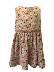 Age 7-8 Pink Flower Patterned Occasion Girls Dress