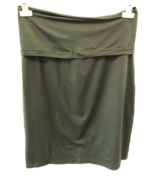 Maternity Size 16  Arabella Forest Green Knee Length Jersey Skirt New