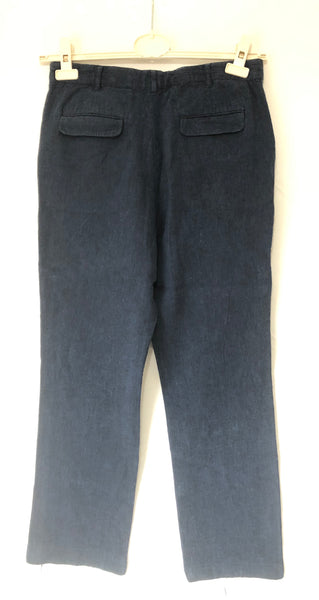 Age 13-14 Boys Navy Linen Trousers by M&S