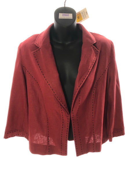 Size 16 M&S Brick Red Linen Jacket  New Tagged