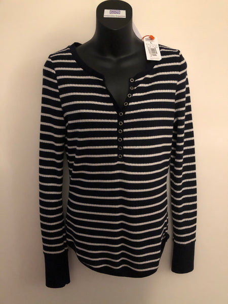Size 14 Superdry Navy Striped Long sleeved top New Tagged