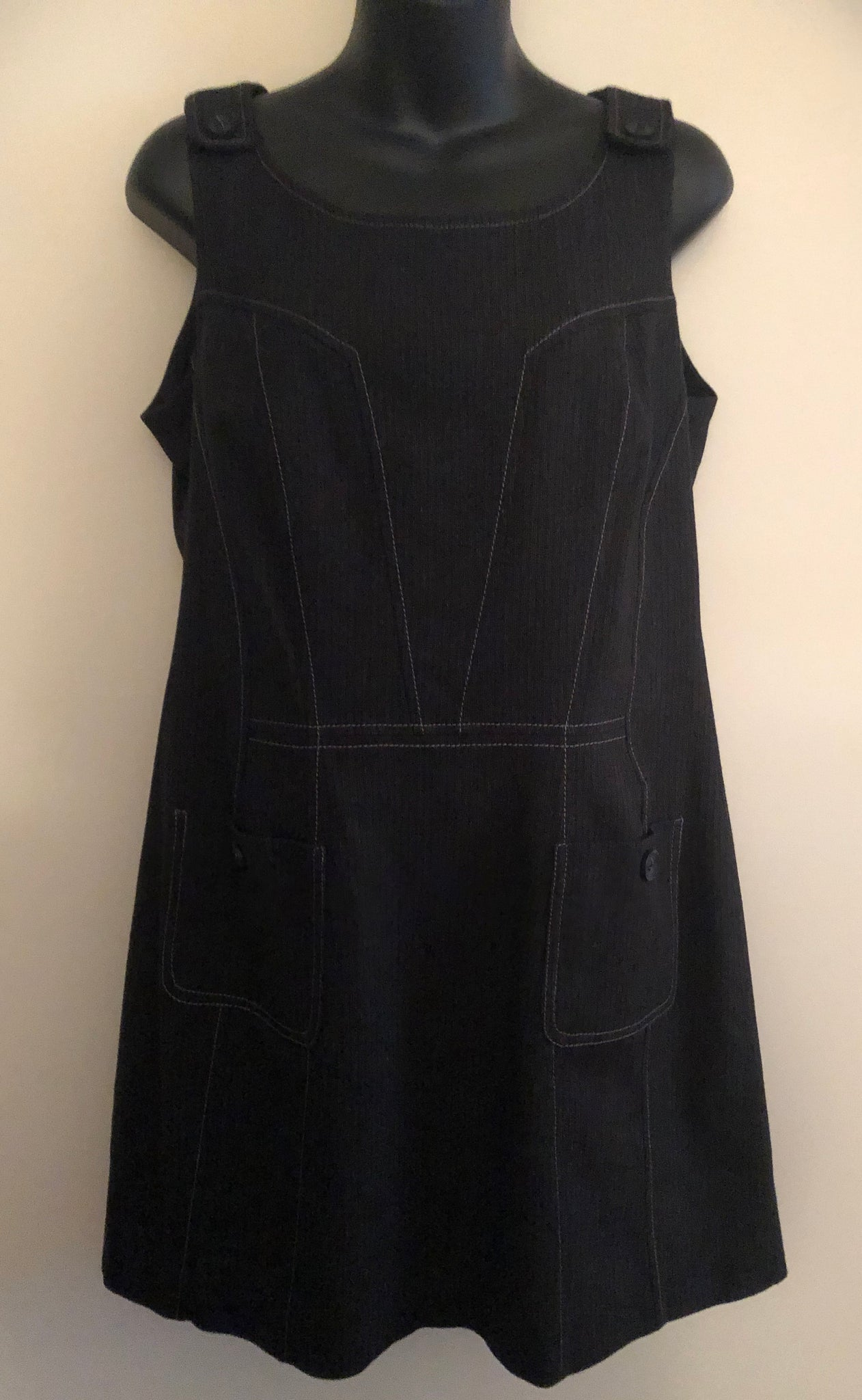 Size 14 Next Dark Grey Pinafore Dress