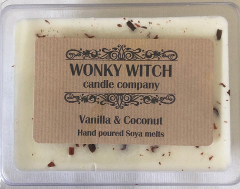 Vanilla & Coconut Hand Poured Vegan Soya Melts