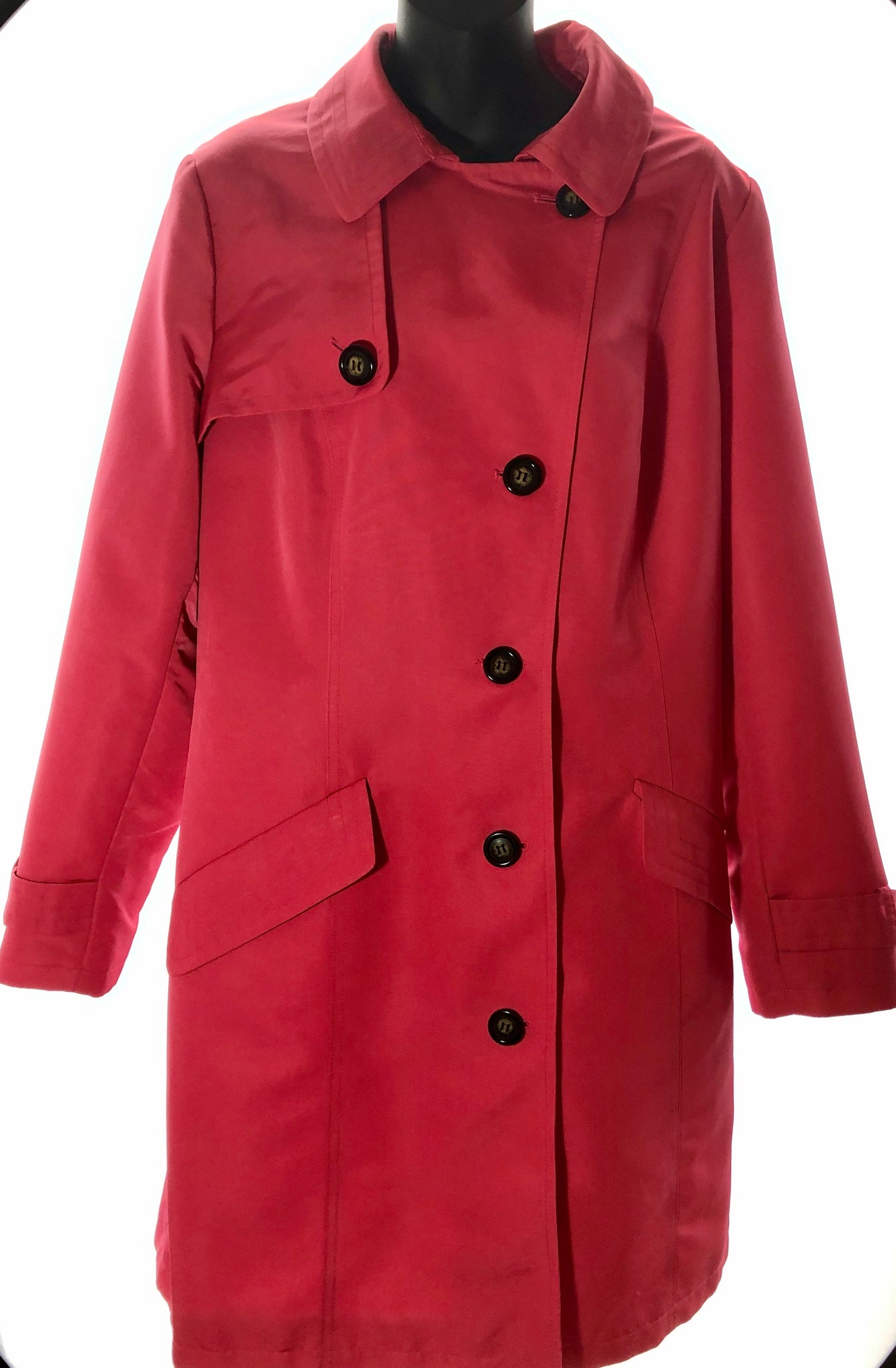 Size 16 Marks & Spencer Bright Pink Mac Jacket
