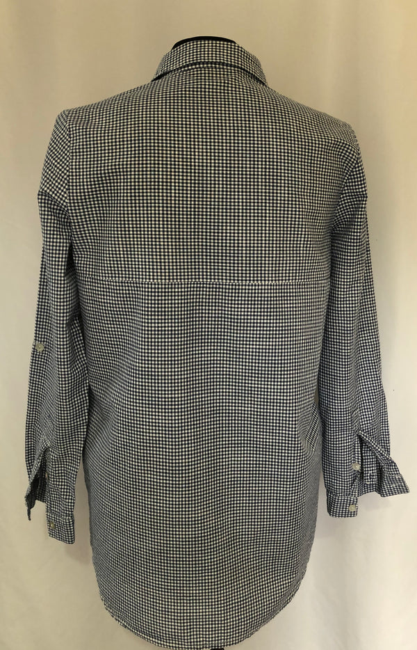 Size 8-10 Overider Boutique Blue Checked shirt Blouse