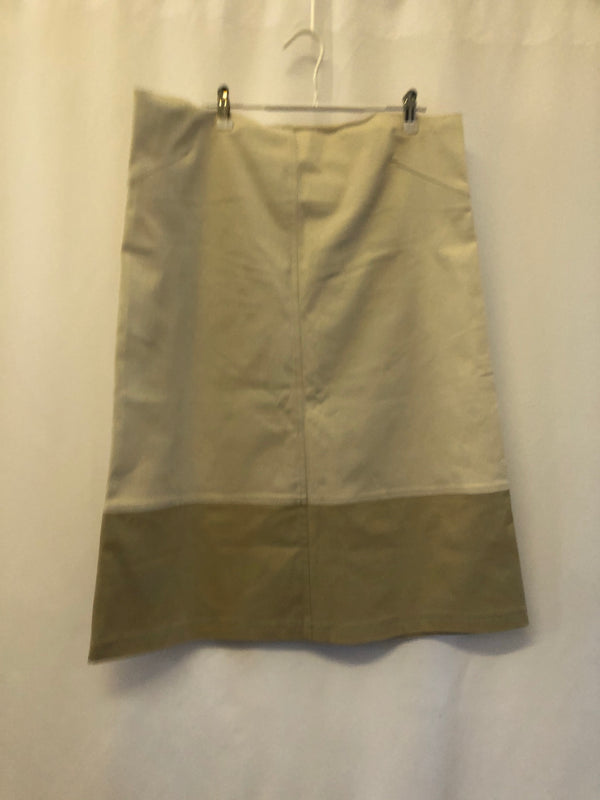 Maternity Size 16  Beige Skirt Rrp £80 New & Tagged