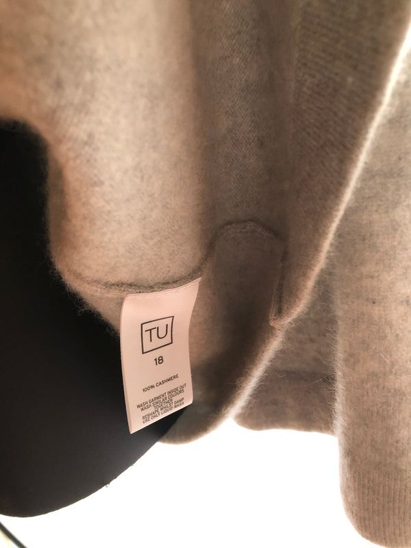 Size 16 Tu Light Grey  Soft Cashmere Mix Cardigan